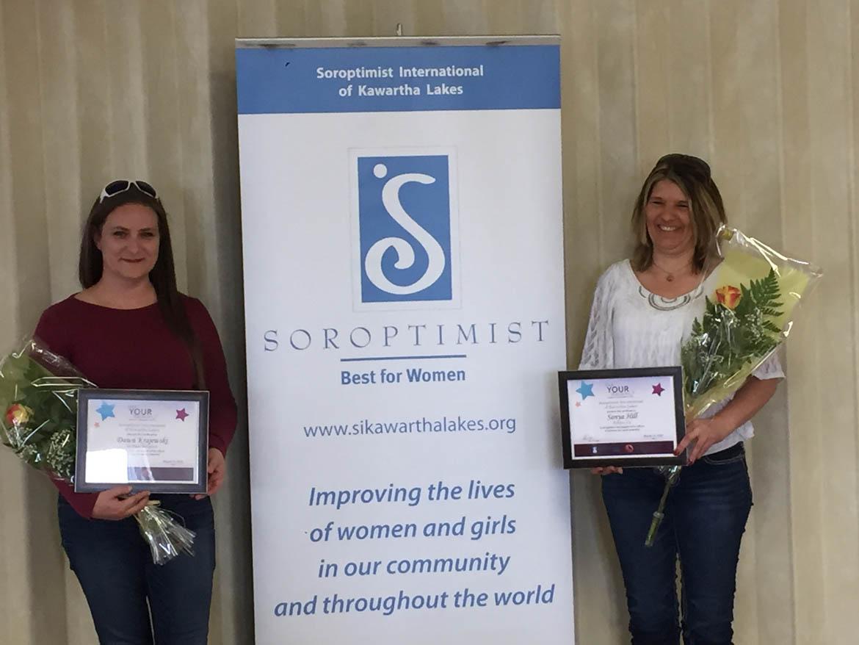 Dawn and Sonya, winners of LYDA