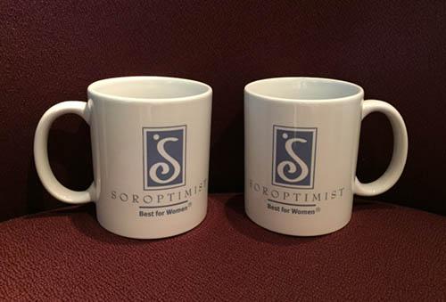 Soroptimist mugs